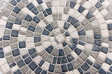 Mosaik aus Betonsteinpflaster