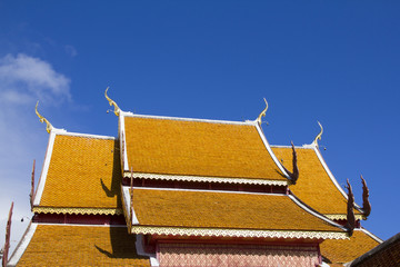 Roof top of the Thai temple