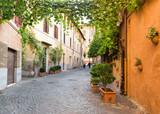 Old street in Trastevere in Rome, Italy - 69619197