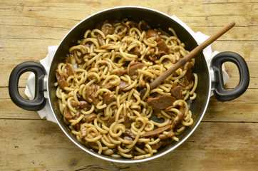 Pasta gramigna con porcini 이탈리아 요리 Expo Milano 2015