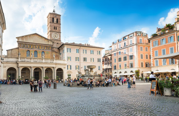 Basilica di Santa Maria in Trastevere, Rome. Italy