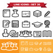 Line icons set 30