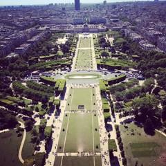 Champs de Mars vu de la tour Eiffel