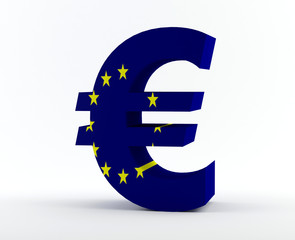 Euro sign with Euro flag