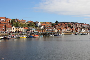 Whitby harbour Yorkshire uk