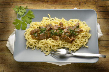 Pasta gramigna con porcini Итальянская кухня Expo Milano 2015