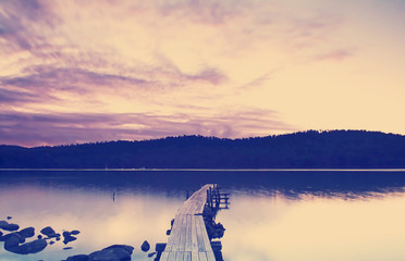 Sunset Pier Instagram Style