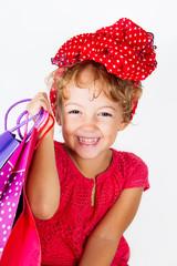 Bambina a fare shopping