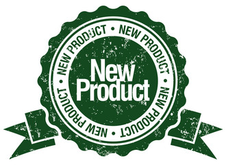 new product stamp with ribbon