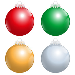 Christmas Tree Balls Red Green Gold Silver