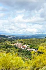 Rural tourism, small village in the Sierra de Sevilla, Spain