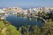 canvas print picture - Bootshafen von Aghios Nikolaos auf Kreta