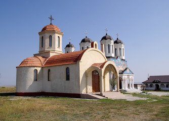Orthodox Monastery Codru with two churches,  near Tulcea , Roman