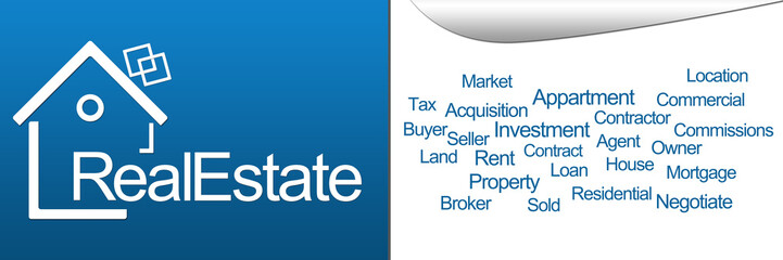 Real Estate Blue Horizontal