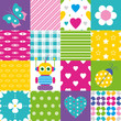 happy patchwork pattern collection