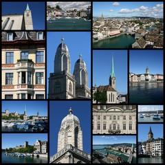 Zurich - photo memories collage