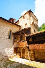 Chillon castle inner yard