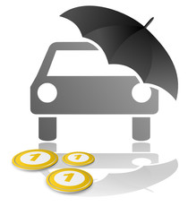 Auto Schirm Geld
