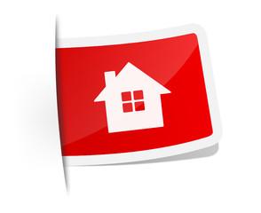 Schild Haus rot
