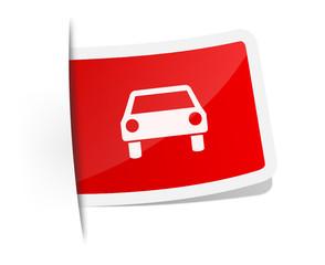 Schild Auto rot