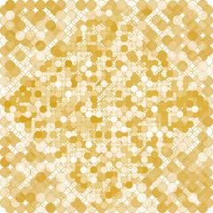 Golden circles background, vector