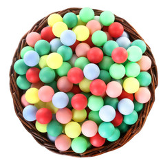 Wicked basket full of colorful balls