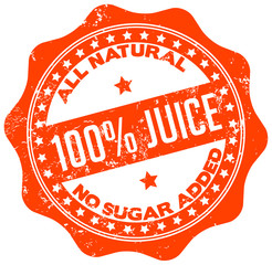 natural juice stamp