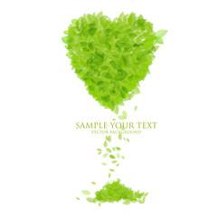 Grünes Herz, Blätter Liebe