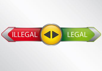 Legal oder Illegal - Infografik