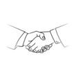 handshake black line