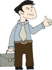 Illustration - Business worker