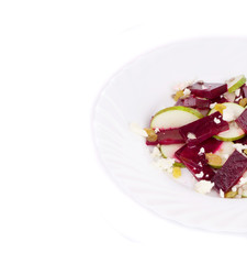 Beet salad with pear.
