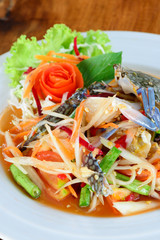 Blue Crab spicy papaya salad