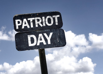Patriot Day sign with clouds and sky background