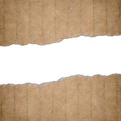 Torn cardboard paper