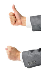 Businessman's hands