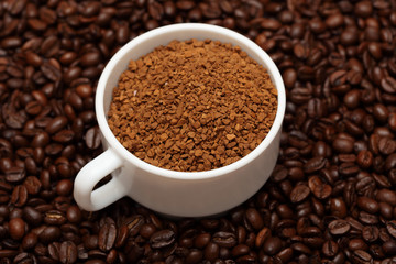 Cup of coffee granules
