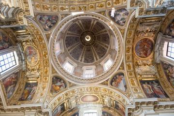 Dome of Basilica di Santa Maria Maggiore in Rome, Italy
