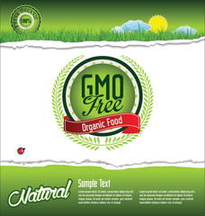 Ecology, organic, nature, GMO free green banner
