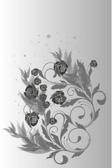 gris en roses
