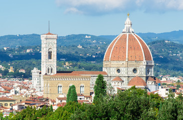 view of Florence and Santa Maria del Fiore (Duomo), Italy
