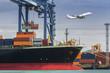 Leinwanddruck Bild - Container Cargo freight ship