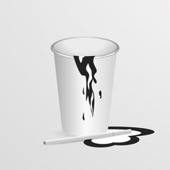 Одноразовый стаканчик сигарета