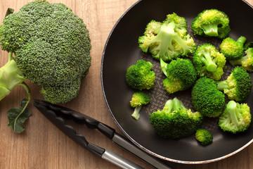 Broccoli with pan