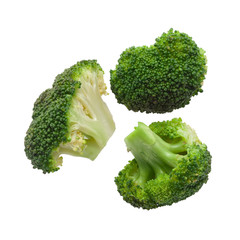 Cooked broccoli isolated