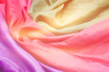 colorful silk scarf, background and texture