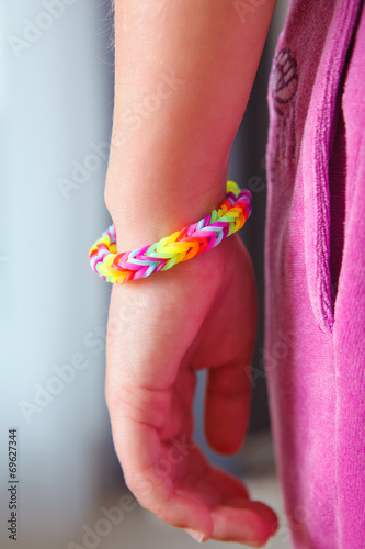 canvas print picture rubber band bracelet