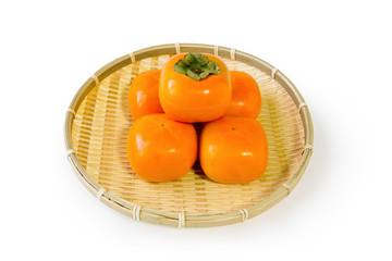 ザルの中の柿