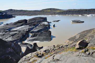 Исландия, таяние самого большого в Европе ледника Ватнаекутль