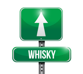 whisky sign illustration design